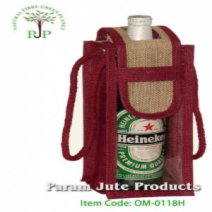 Designer Jute Wine Bottle Bags manufacturer