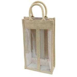 Double Bottle Jute Wine Bags