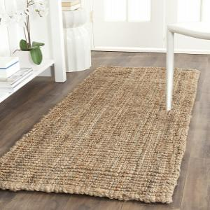Hand-tuffed rectangular jute rugs