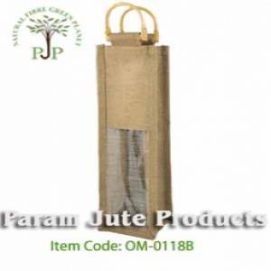 Single Bottle Jute Wine Bags manufacturer