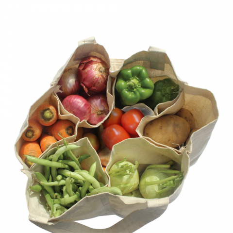 Cotton vegetables bag with pockets