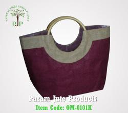 Circular Cane handle Jute Beach Bags supplier
