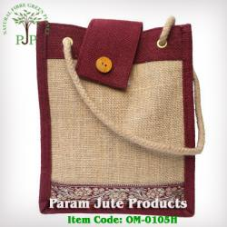 Rope handle jute designer bags manufacturer