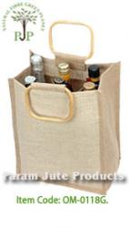 Six Bottle Jute Wine Bags supplier