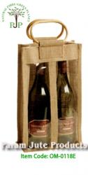 Jute Two Bottle Wine Bags manufacturer