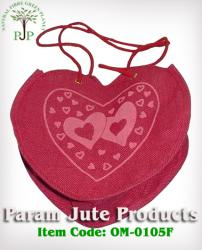 Jute Designer Bag in love shape