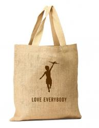 Hessian carry bags with logo