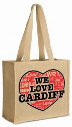 Long handle jute promotional bags