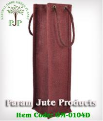 Colour Jute Bags for single bottle