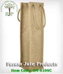 Single Bottle Natural Jute Bags manufacturer